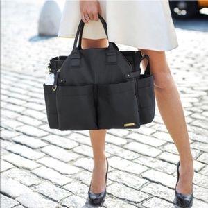 Skip Hop Black Chelsea Downtown Chic Diaper Bag